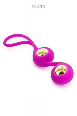 Gold Love Balls : Boules de Geisha avec billes amovibles en acier plaqué or 18 carats entourées de silicone haute qualité, marque Glamy.